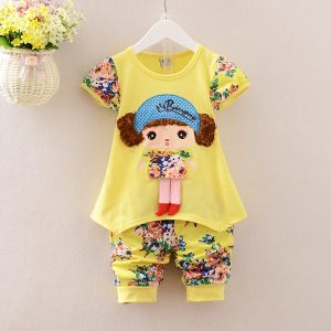 Curly Hair Doll Shirt & Shorts - islamabad