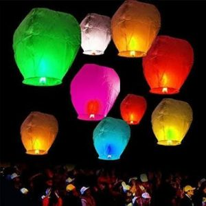 Set of 5 Fire lanterns balloon - Islamabad