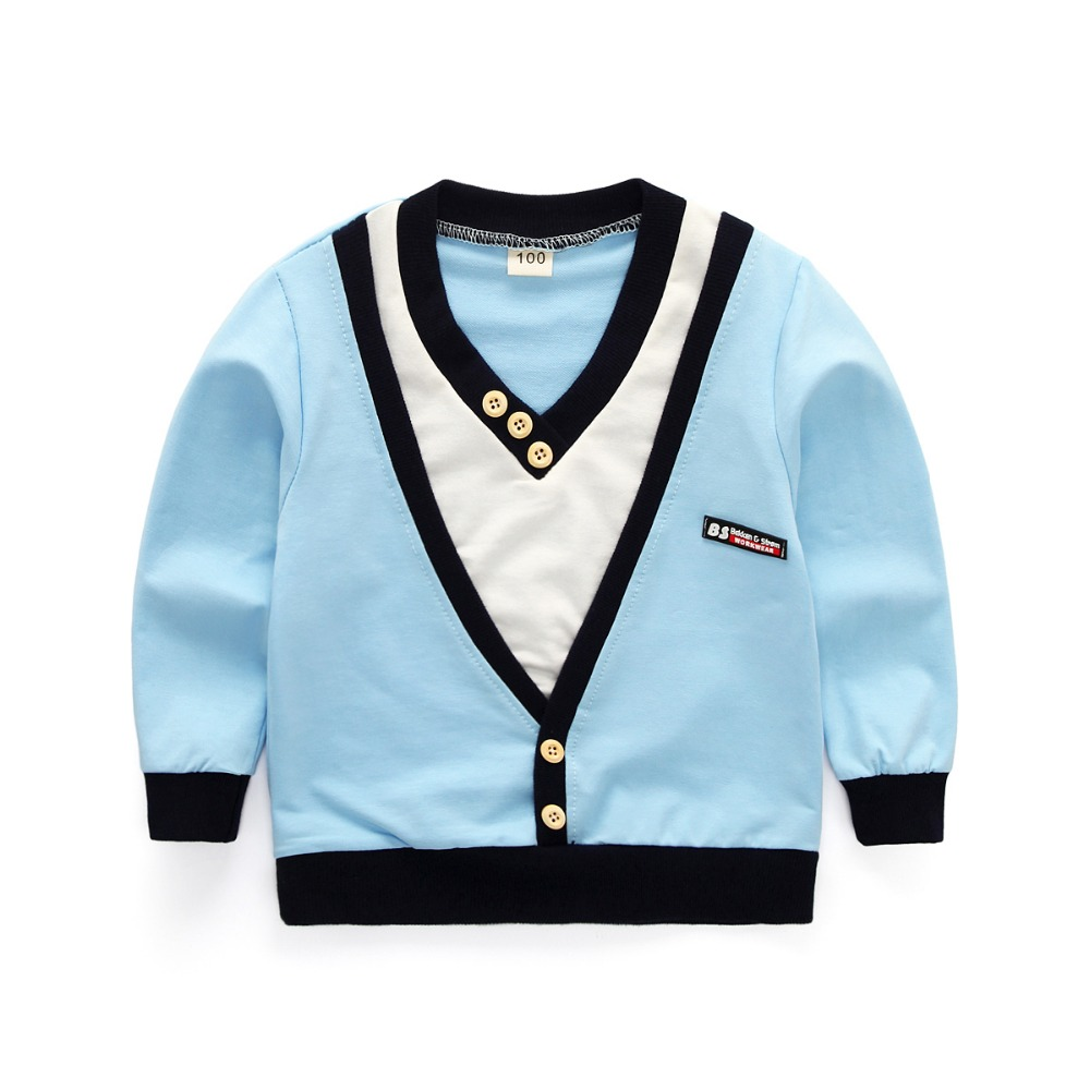 18m -6 years-Two pieces Blue white sweater V-neck shirt pants islamabad online shop