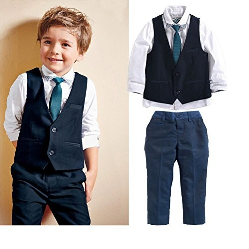 9adc8a2a920b 1-7 years- Spring boys formal wear 4-piece suit - Islamabad Online Store