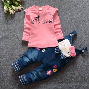 Pink Kitty Shirt & Denim - Islamabad