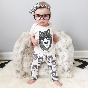 4 -24 months-Spring/Summer monster tattoo outfit for baby girl and boy islamabad online shop
