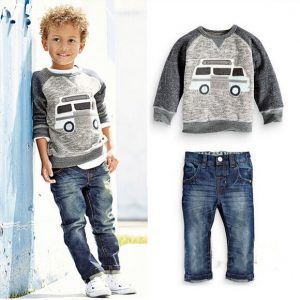 1-6 years-Spring/Summer boys casual wear Shirt and Jeans islamabad online shop