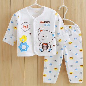 2 Pcs Cotton New Born Baby White Set 0-3 & 3-6 months - Islamabad