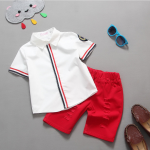 1-5 years baby (kids+Toddler) boys clothing turn down collar lining shirt+short pants Islamabad online shop