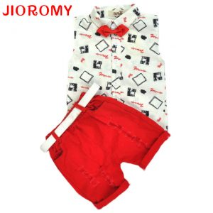 1-6 years-baby (kids+Toddler) boys clothing turn down collar shirt+short pants islamabad online shop