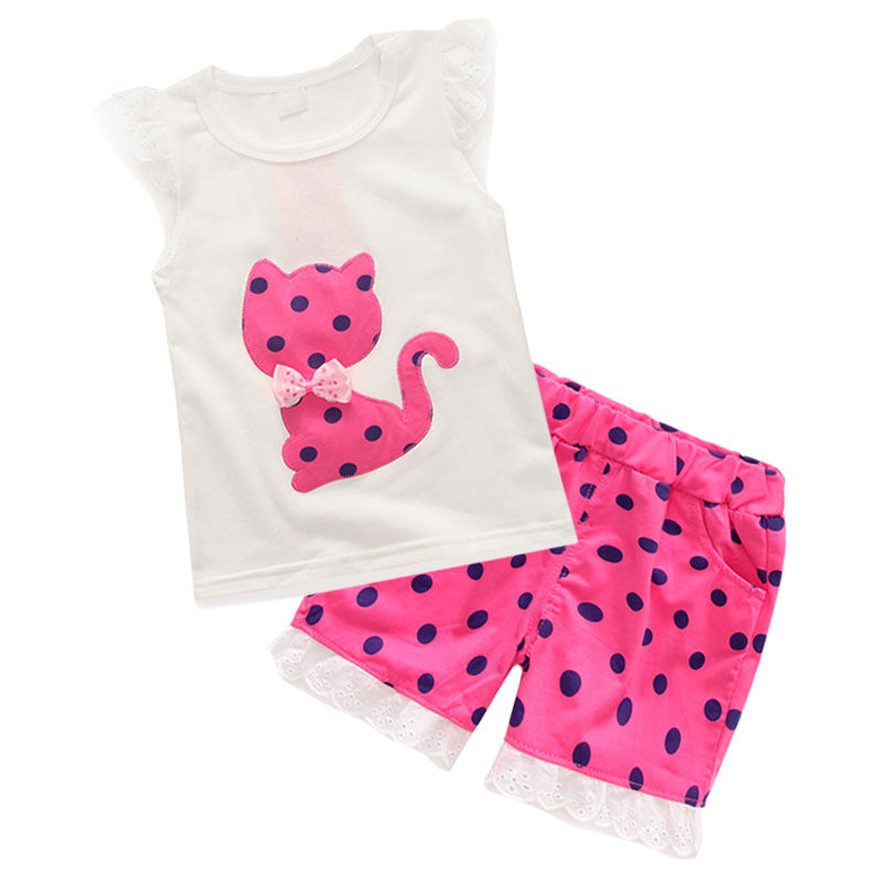1d29fd9f0 9M-4 years baby (kids+toddler) girls trend fashion polka dots hello kitty  pullover+half polka dot pink short Islamabad online shop