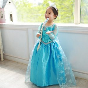 2-7 YEARS Gorgeous girls (kids+toddler) baby fairy princess elsa frozen beautiful dress formal wear