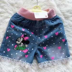 9 months- 5 years Gorgeous minnie mouse high quality denim shorts