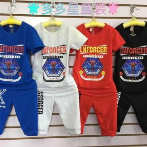 1-5 years Stylish Enforcer Spiderman Multi colours trouser and shirt