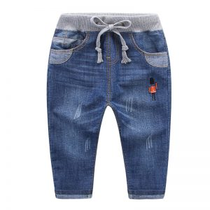1-7 years Boy Cotton Jeans Easy Waist Pant - Islamabad