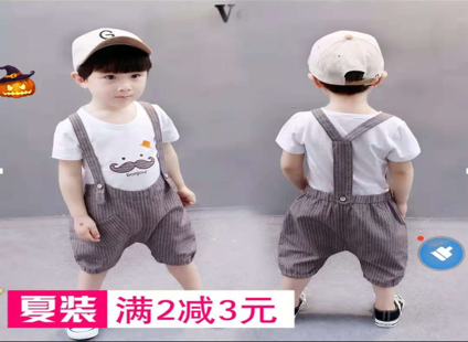 34273b831ec 2019 new children s clothing boys summer short-sleeved suit 0-3 ...